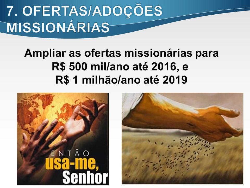 Ampliar as ofertas missionárias para