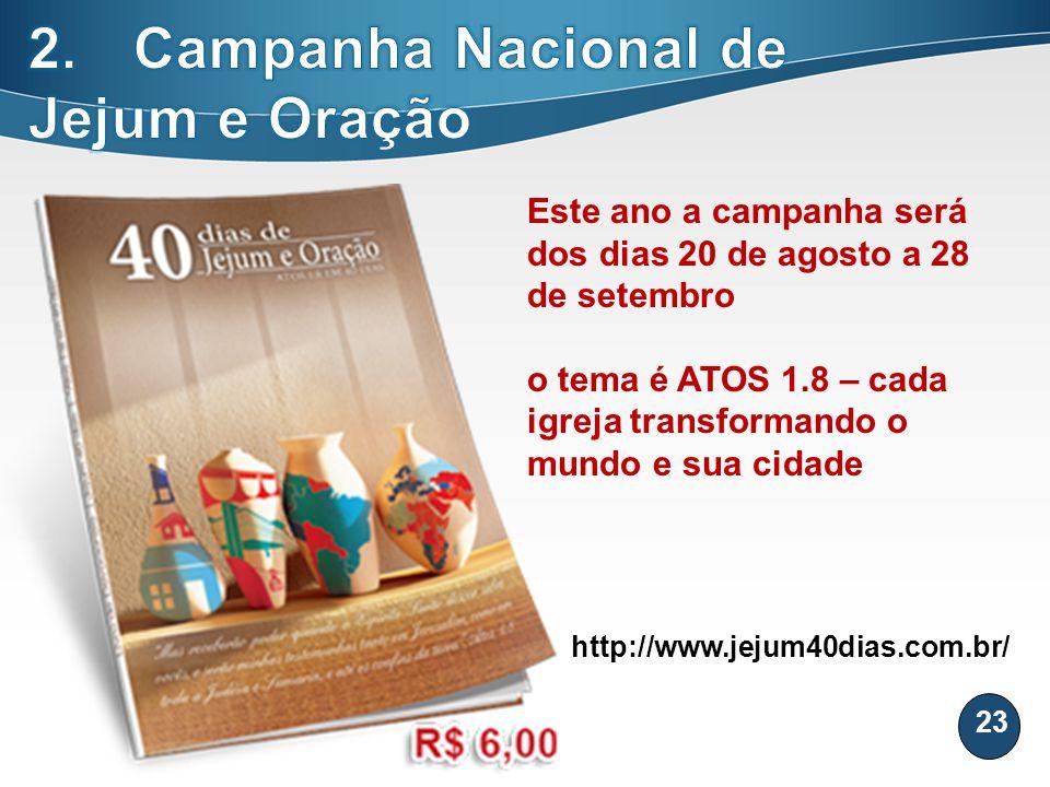2. Campanha Nacional de Jejum e Oração