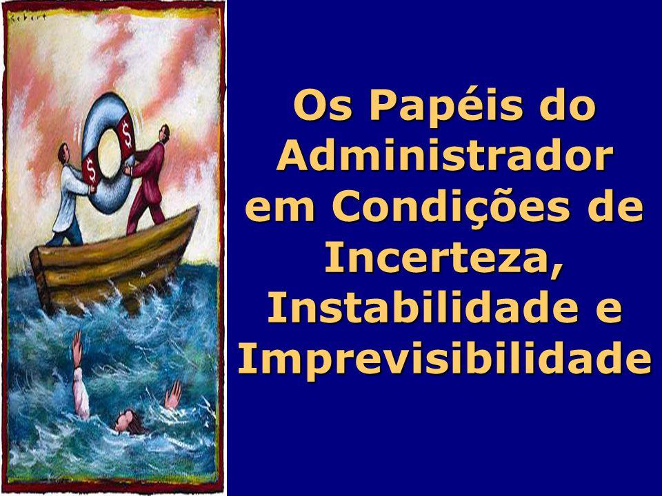 Os Papéis do Administrador em Condições de Incerteza, Instabilidade e Imprevisibilidade