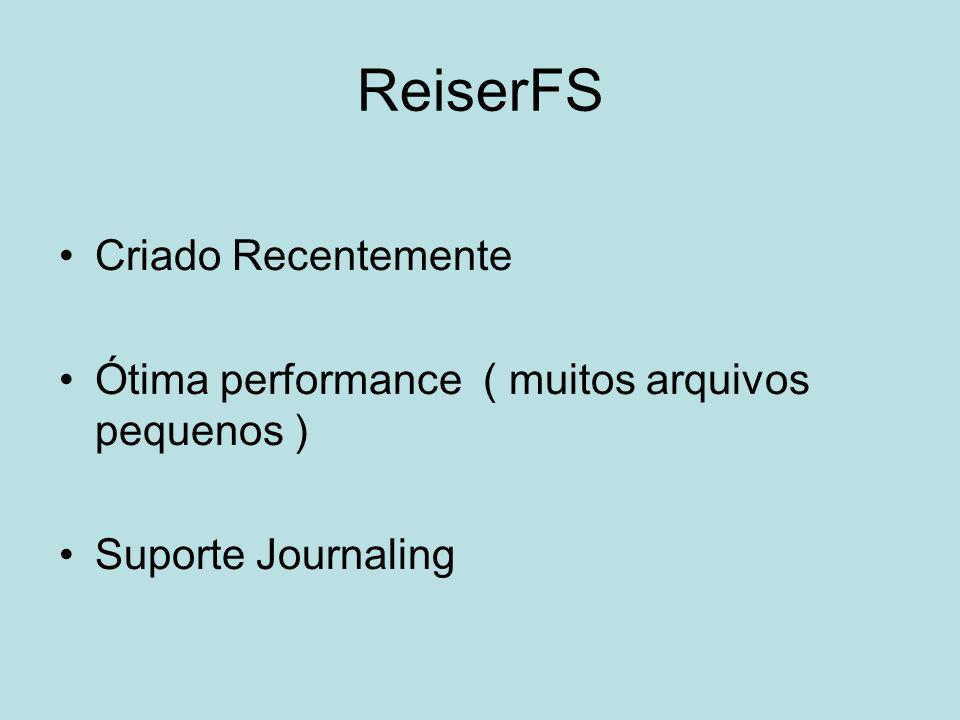 ReiserFS Criado Recentemente