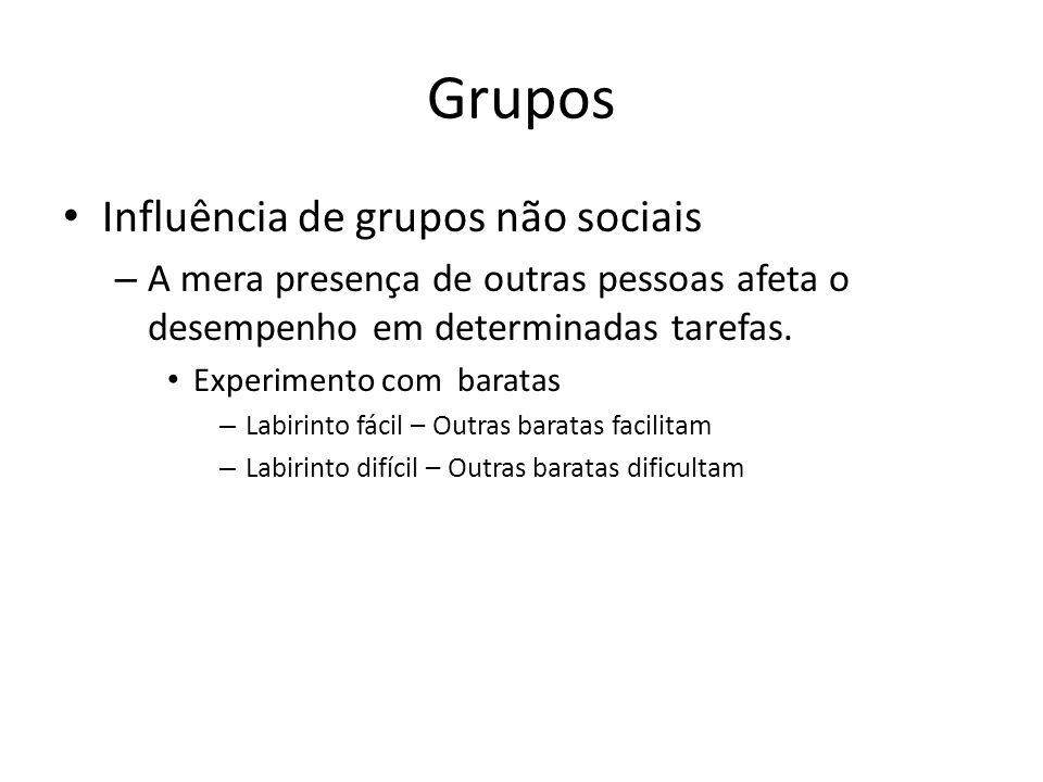 Grupos Influência de grupos não sociais
