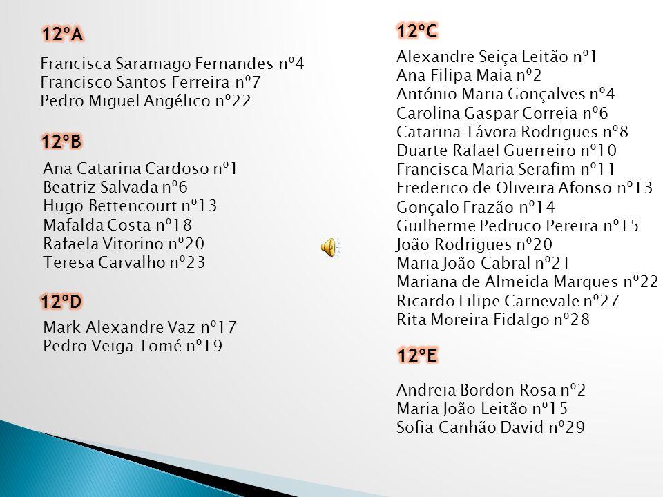 12ºC 12ºA 12ºB 12ºD 12ºE Alexandre Seiça Leitão nº1