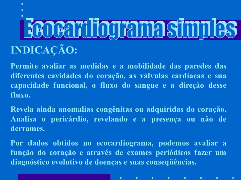 Ecocardiograma simples