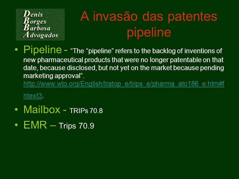 A invasão das patentes pipeline