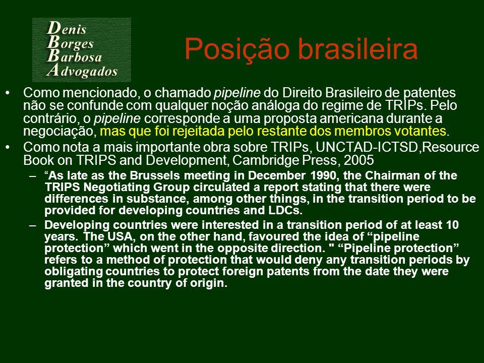 Posição brasileira
