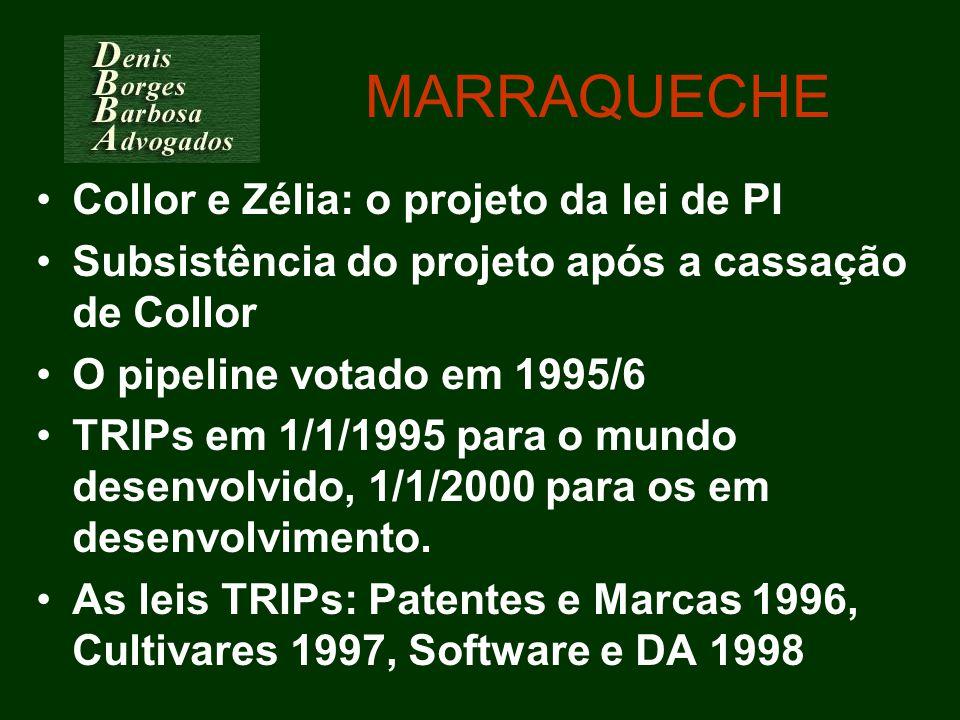 MARRAQUECHE Collor e Zélia: o projeto da lei de PI