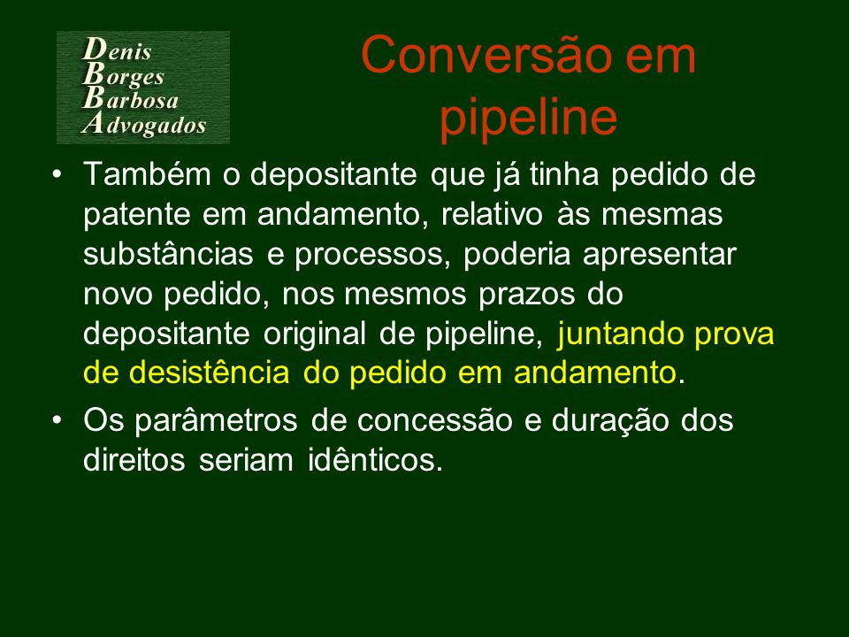 Conversão em pipeline