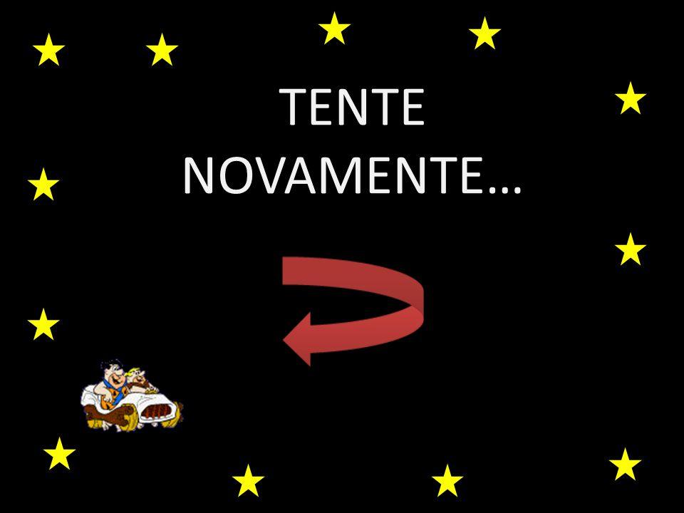 TENTE NOVAMENTE…