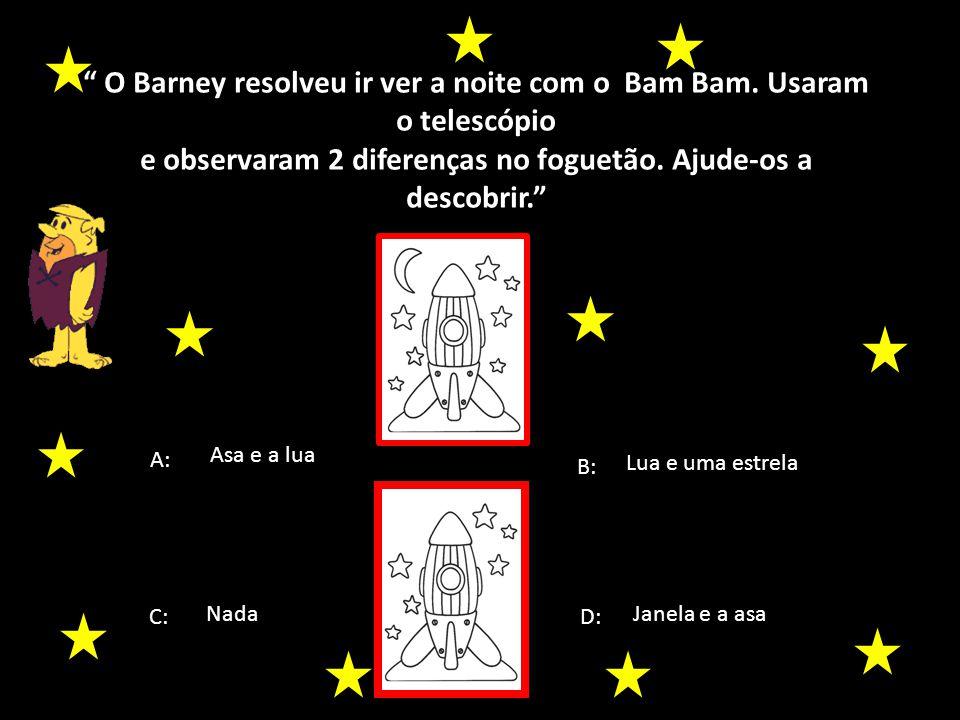 O Barney resolveu ir ver a noite com o Bam Bam. Usaram o telescópio