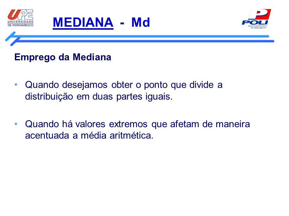 MEDIANA - Md Emprego da Mediana