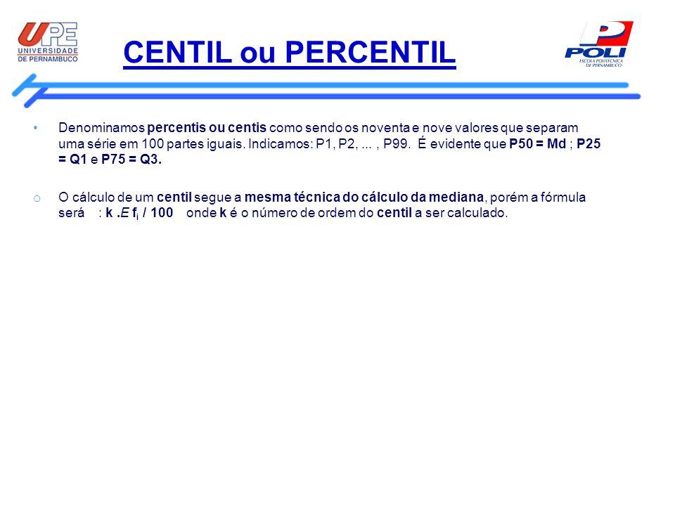 CENTIL ou PERCENTIL