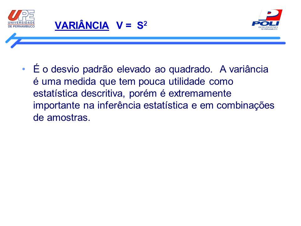 VARIÂNCIA V = S2