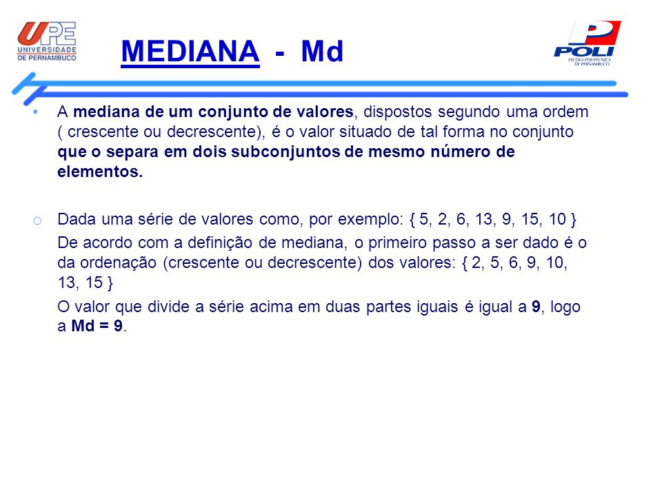 MEDIANA - Md