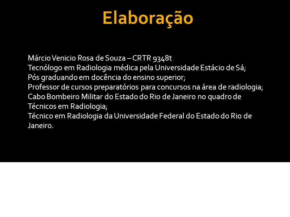 Elaboração Márcio Venicio Rosa de Souza – CRTR 9348t