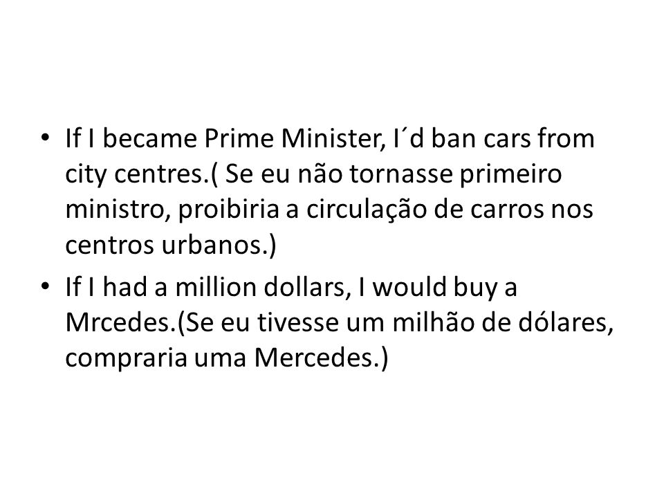 If I became Prime Minister, I´d ban cars from city centres