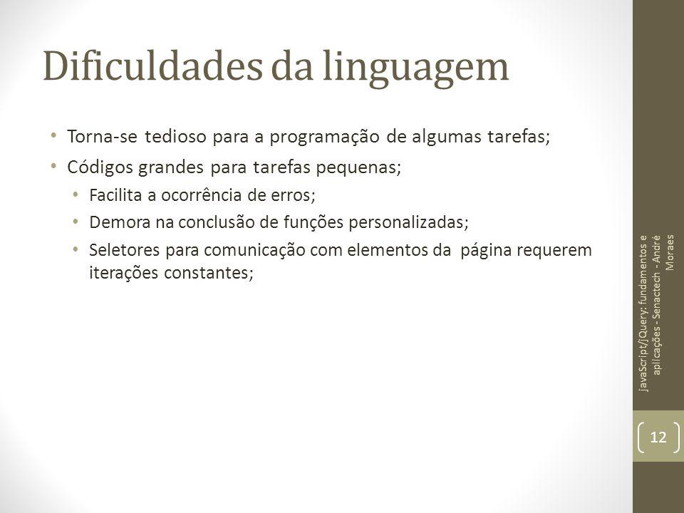 Dificuldades da linguagem