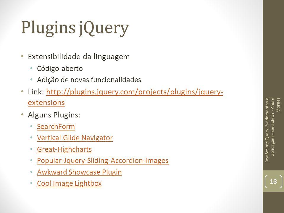Plugins jQuery Extensibilidade da linguagem