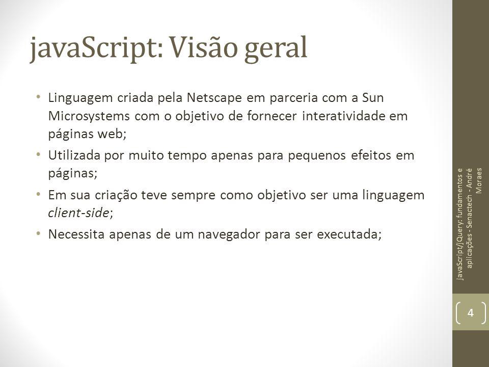 javaScript: Visão geral