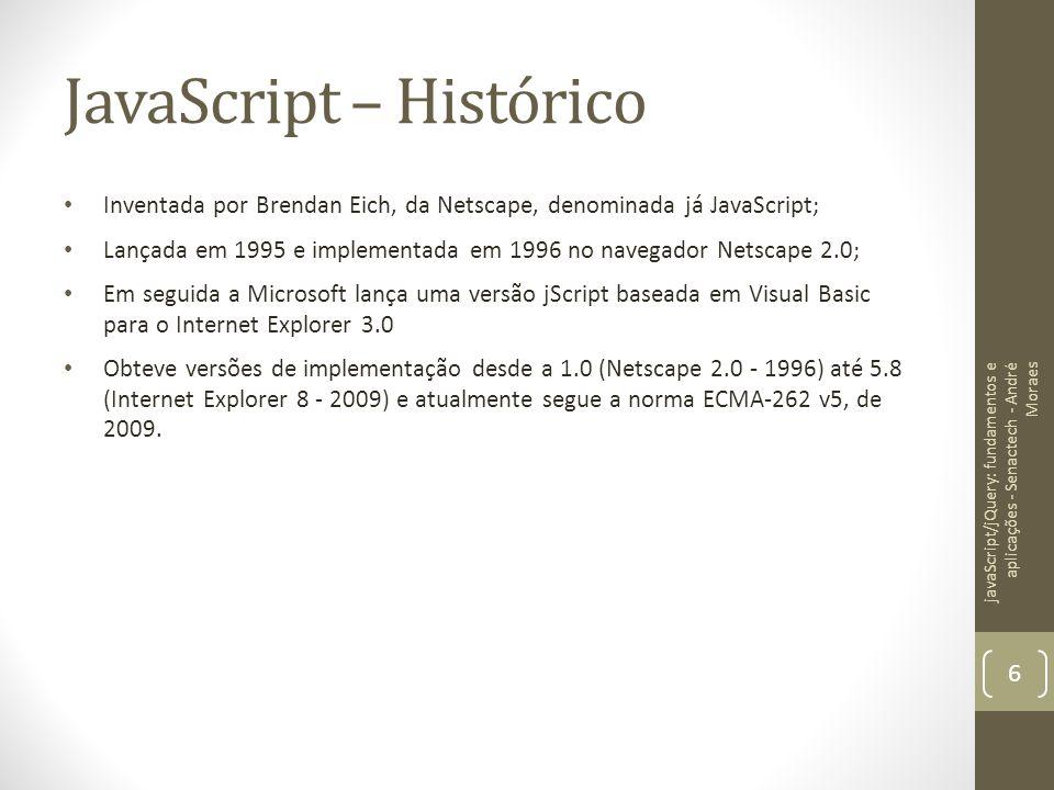 JavaScript – Histórico