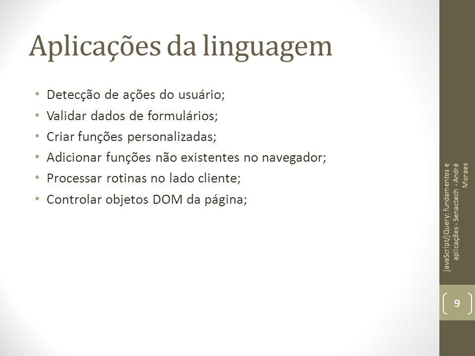 Aplicações da linguagem