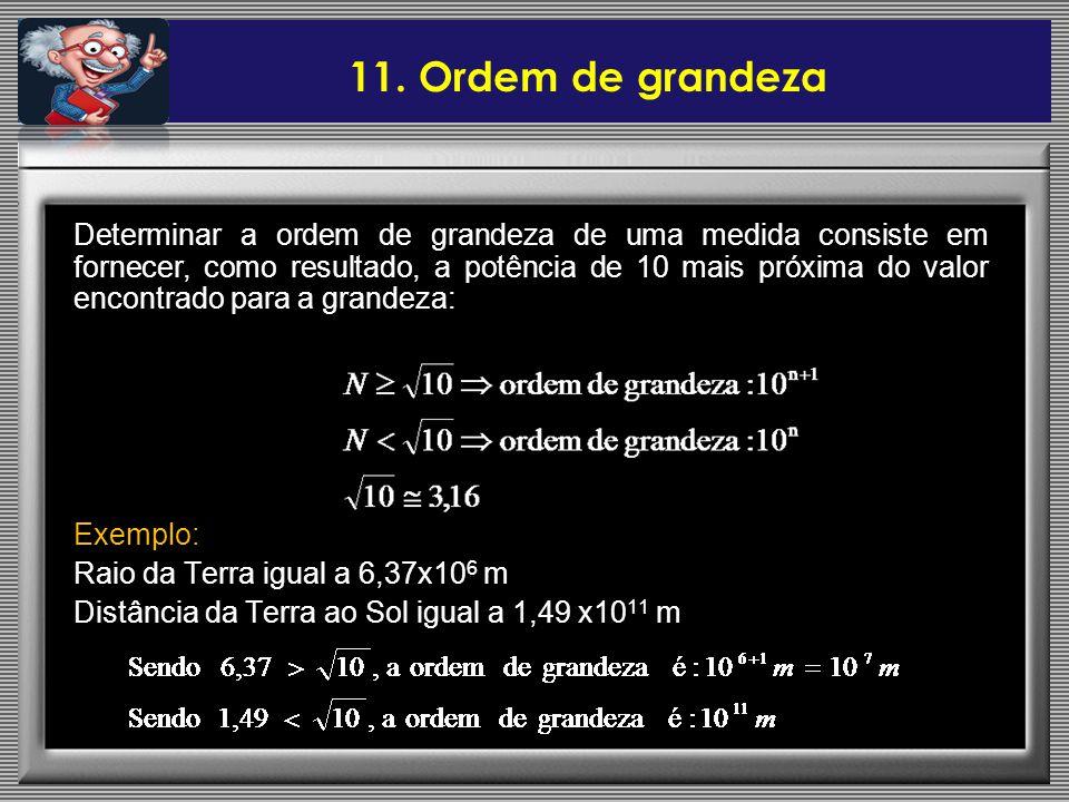 11. Ordem de grandeza
