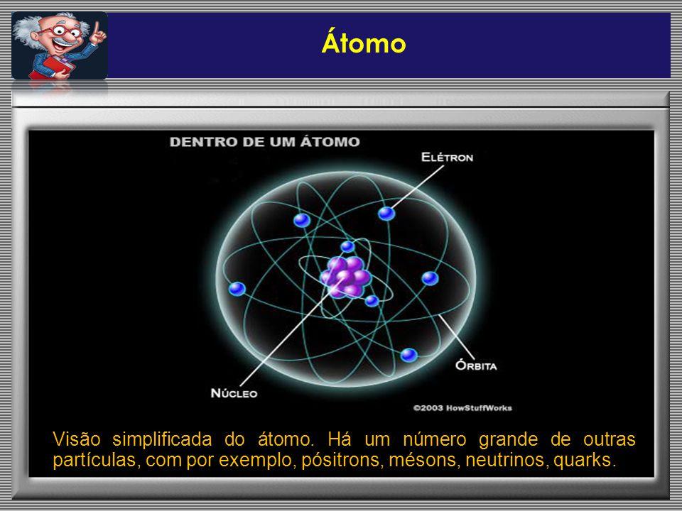 Átomo Visão simplificada do átomo.