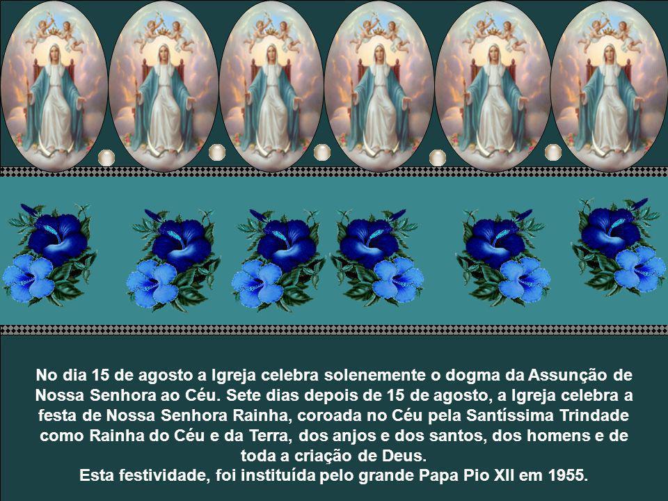 Esta festividade, foi instituída pelo grande Papa Pio XII em 1955.