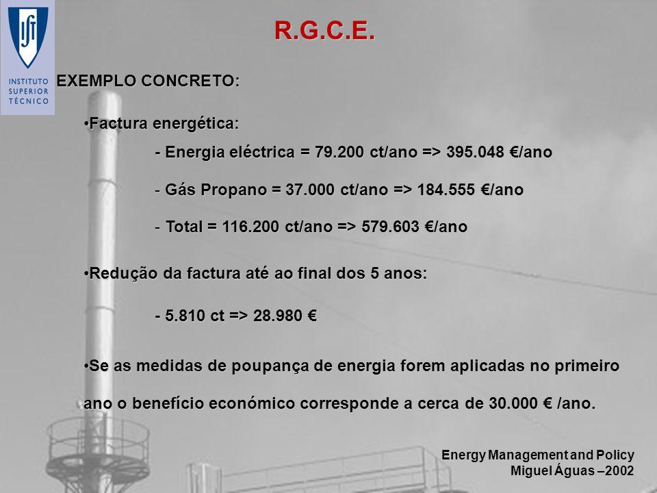 R.G.C.E. EXEMPLO CONCRETO: Factura energética: