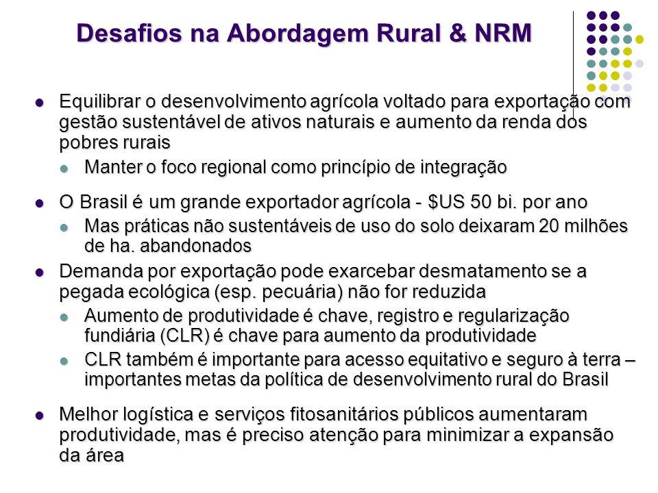 Desafios na Abordagem Rural & NRM