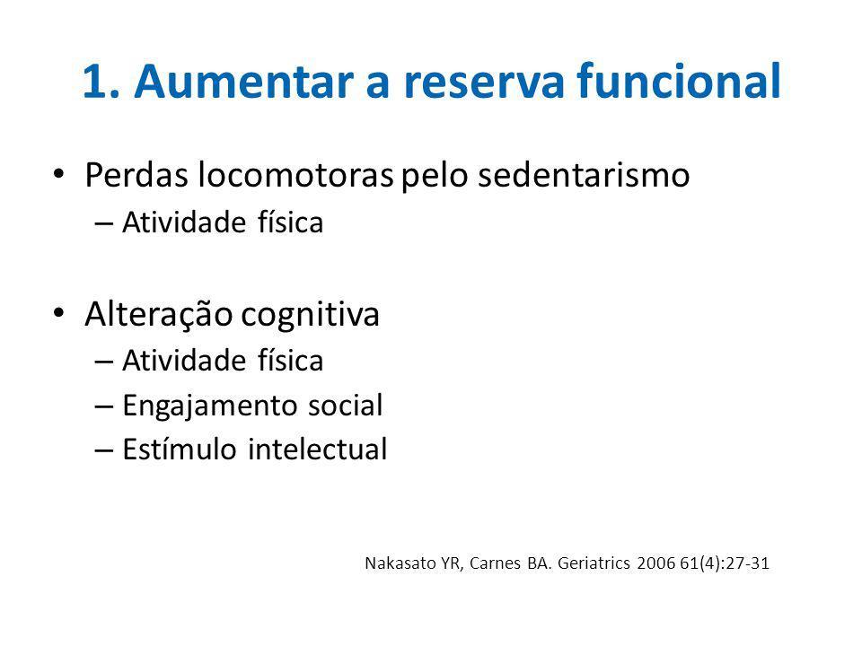 1. Aumentar a reserva funcional