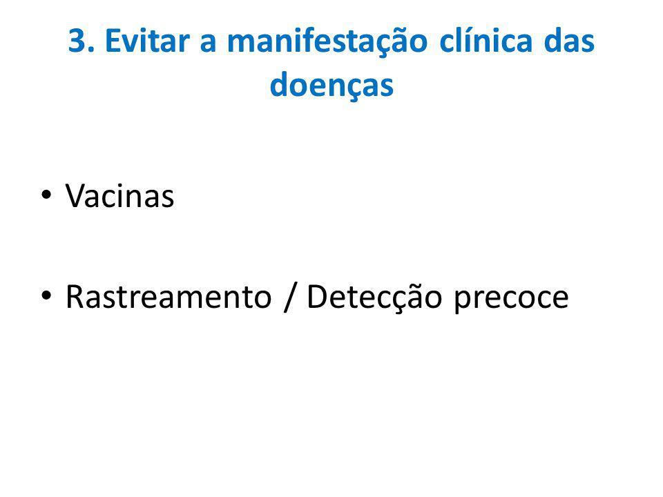 3. Evitar a manifestação clínica das doenças
