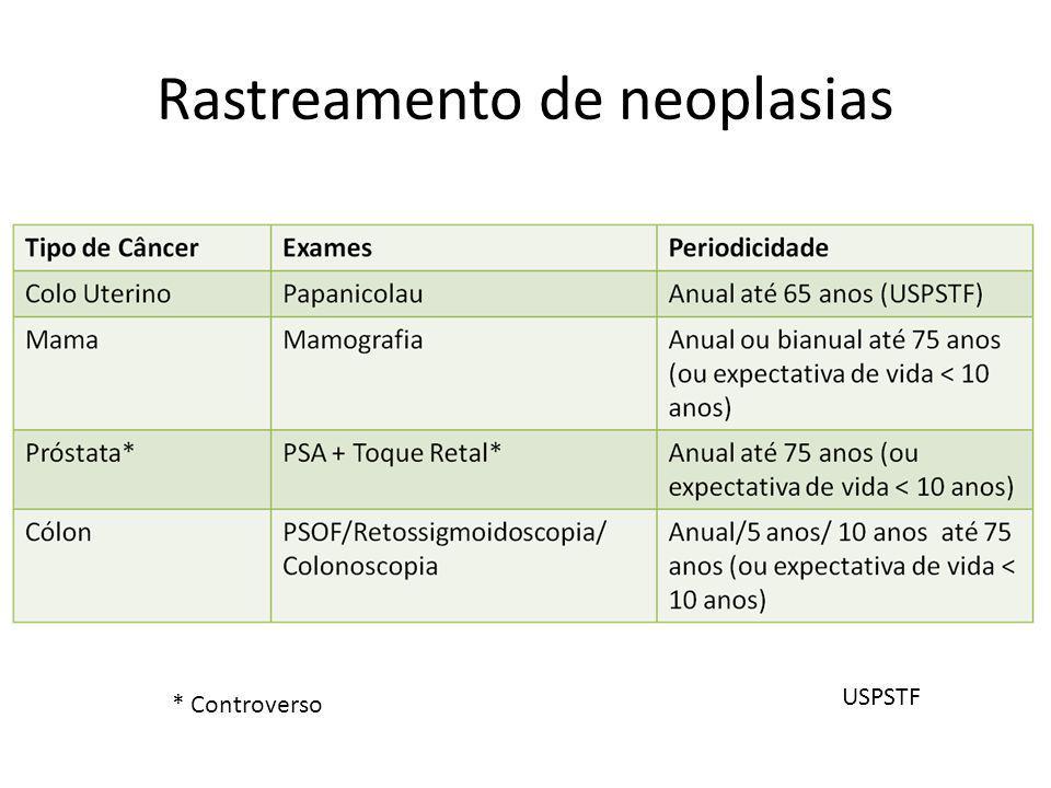 Rastreamento de neoplasias
