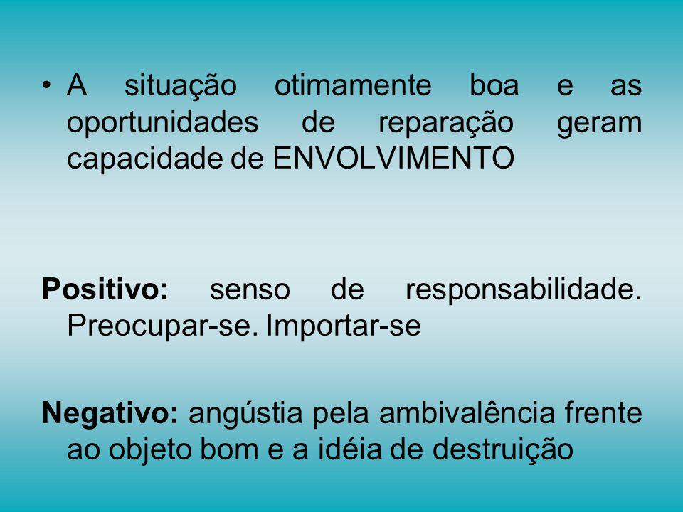 A situação otimamente boa e as oportunidades de reparação geram capacidade de ENVOLVIMENTO