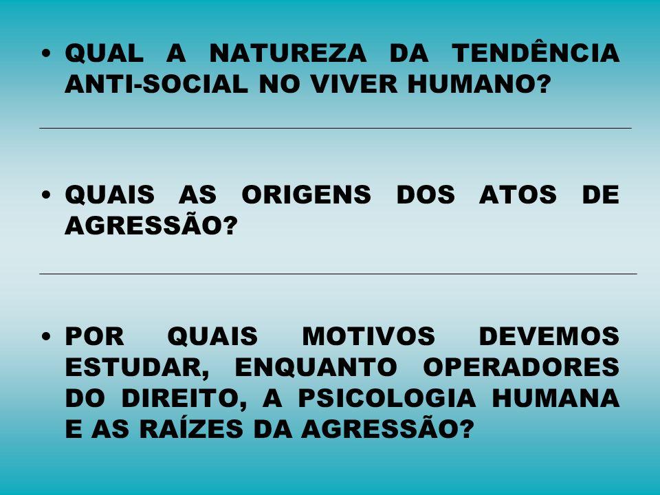 QUAL A NATUREZA DA TENDÊNCIA ANTI-SOCIAL NO VIVER HUMANO