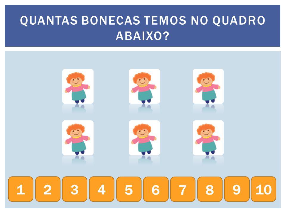 QUANTAS BONECAS TEMOS NO QUADRO ABAIXO
