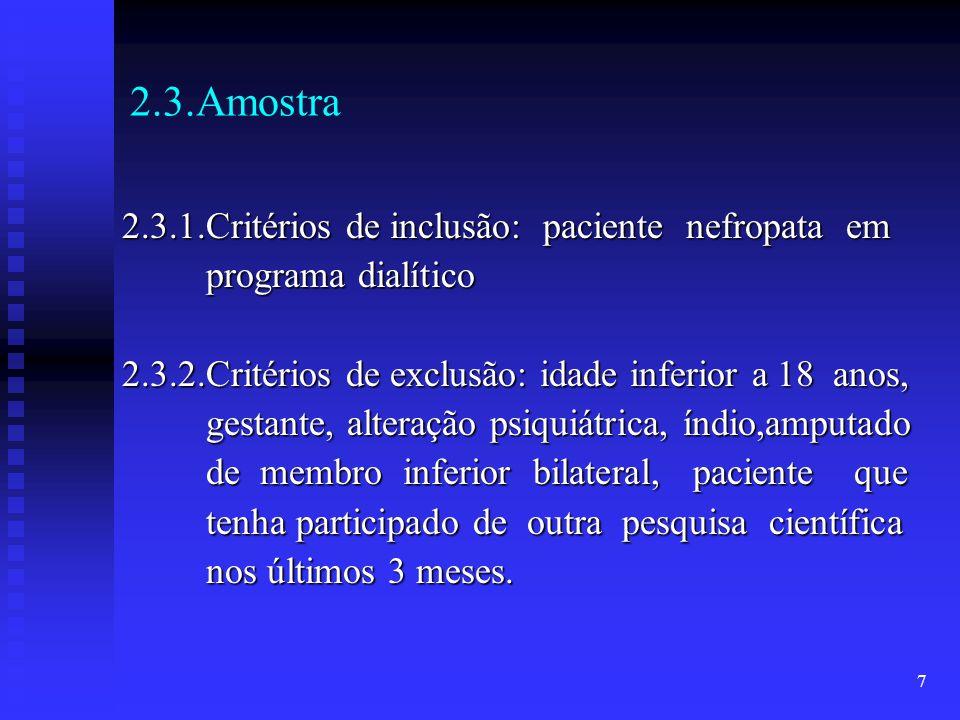 2.3.Amostra 2.3.1.Critérios de inclusão: paciente nefropata em