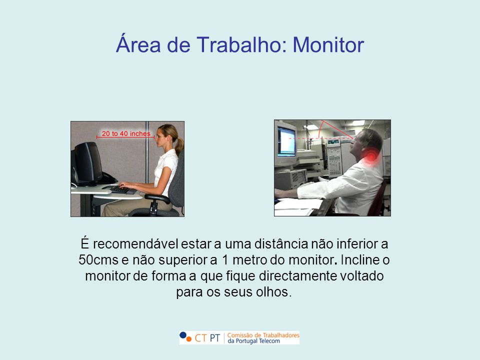 Área de Trabalho: Monitor