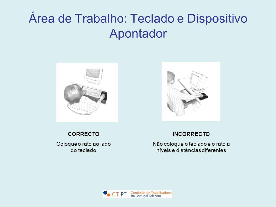 Área de Trabalho: Teclado e Dispositivo Apontador