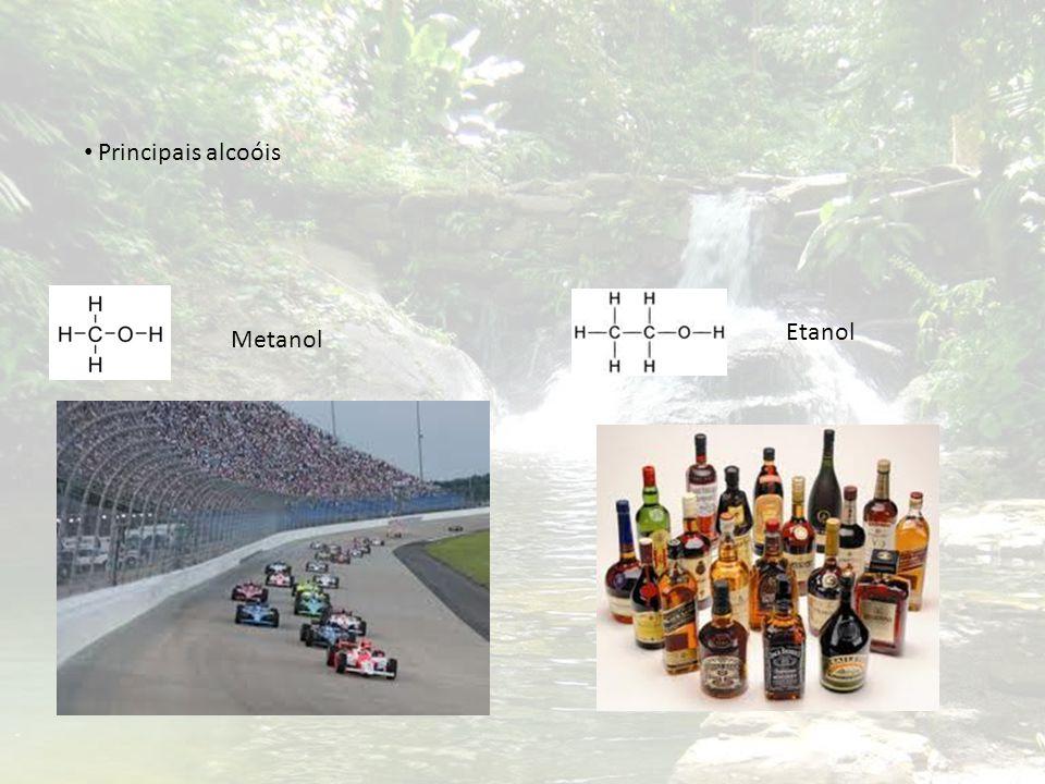 Principais alcoóis Etanol Metanol