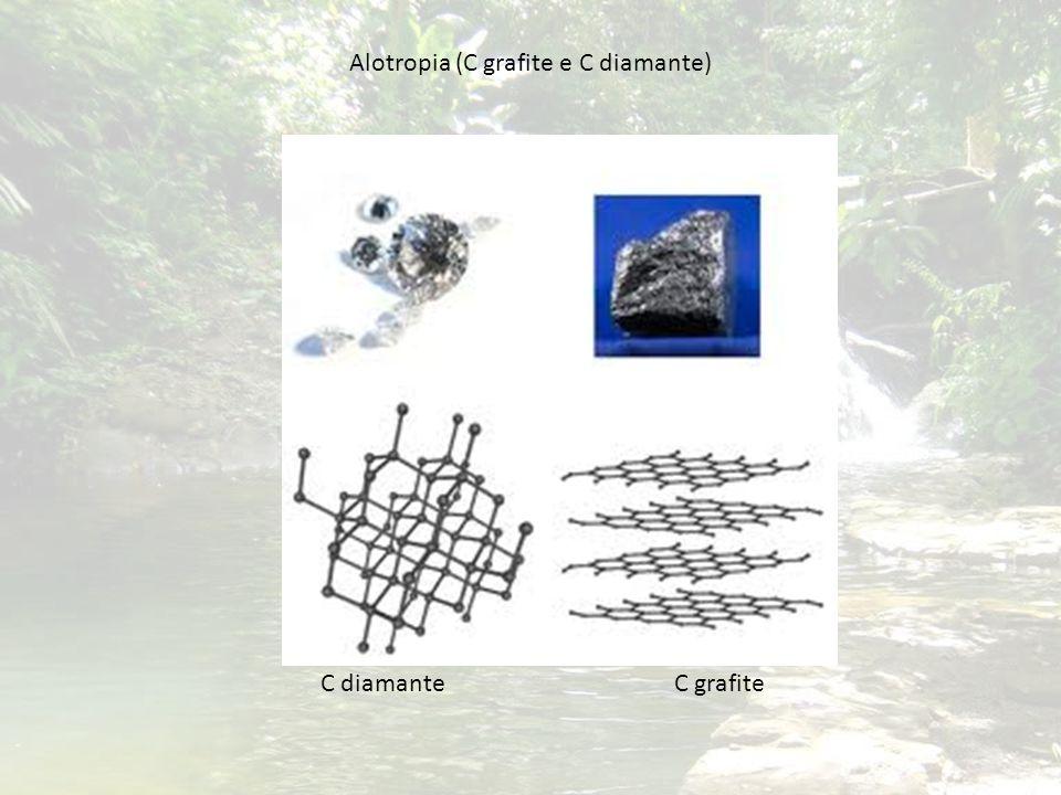 Alotropia (C grafite e C diamante)