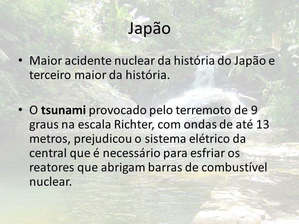 Japão Maior acidente nuclear da história do Japão e terceiro maior da história.