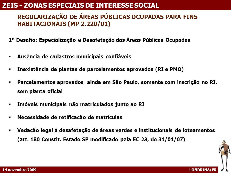 REGULARIZAÇÃO DE ÁREAS PÚBLICAS OCUPADAS PARA FINS HABITACIONAIS (MP 2