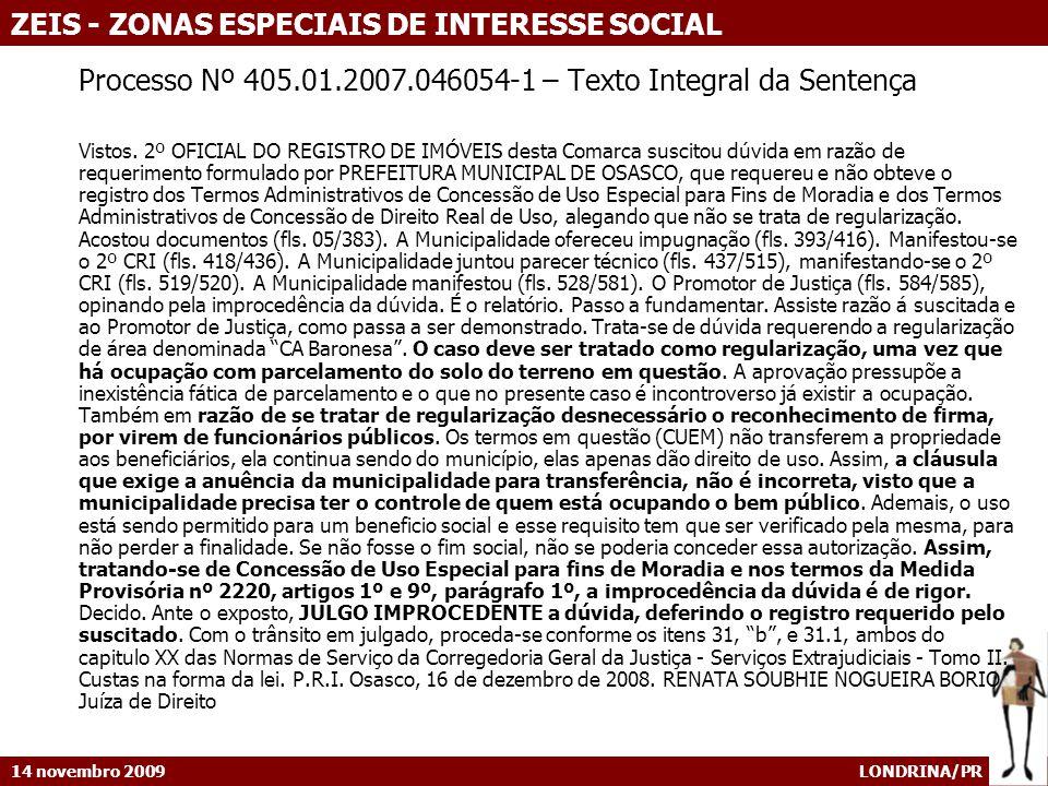 Processo Nº 405.01.2007.046054-1 – Texto Integral da Sentença