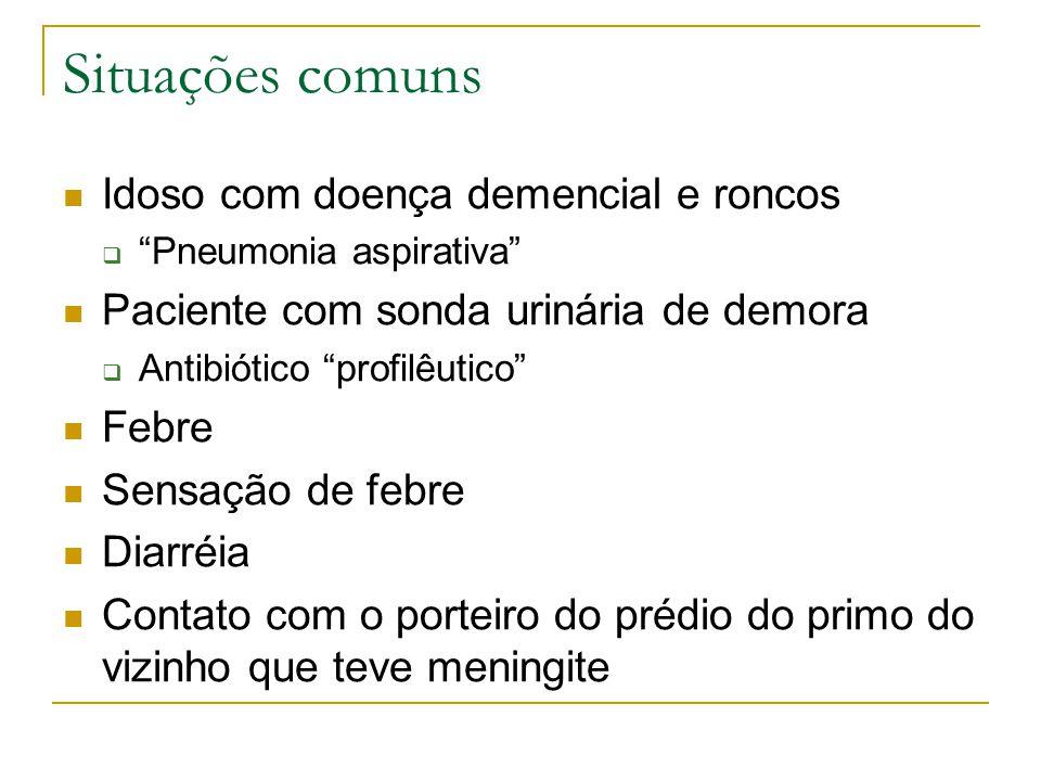 Situações comuns Idoso com doença demencial e roncos