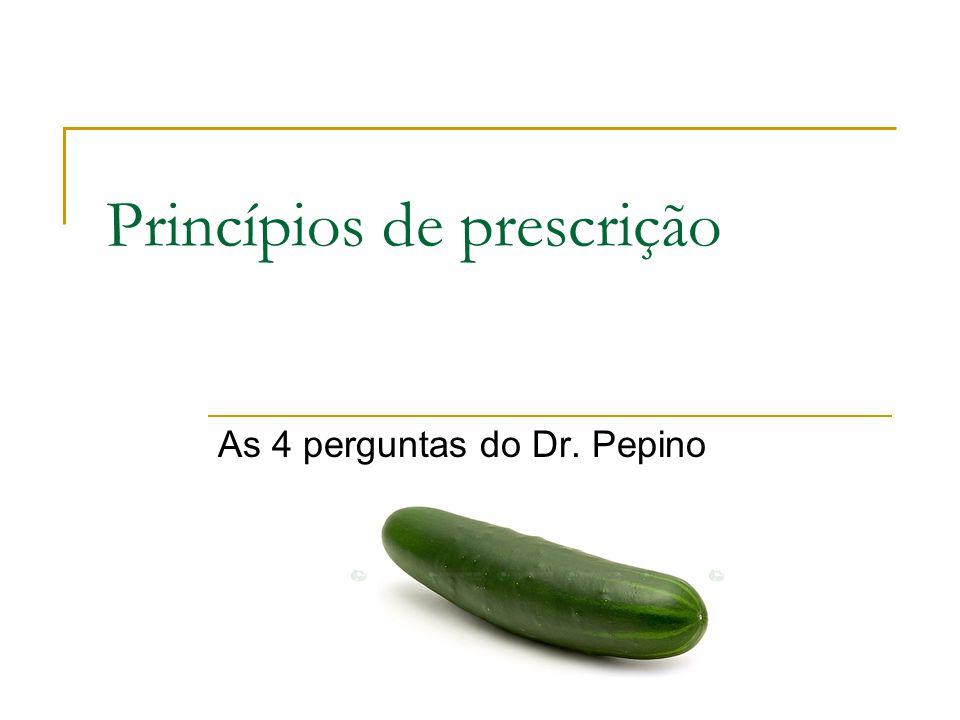 Princípios de prescrição