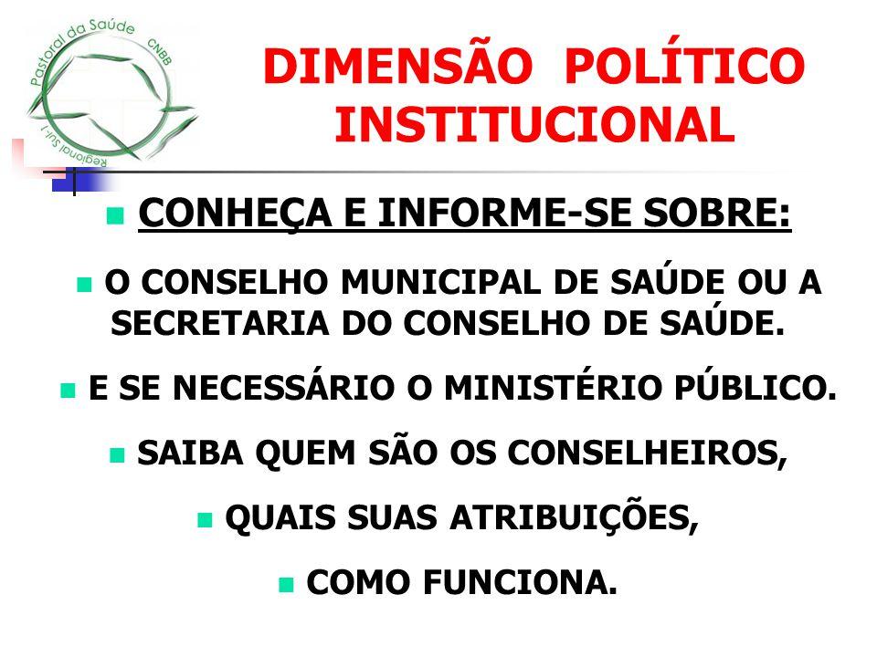 DIMENSÃO POLÍTICO INSTITUCIONAL
