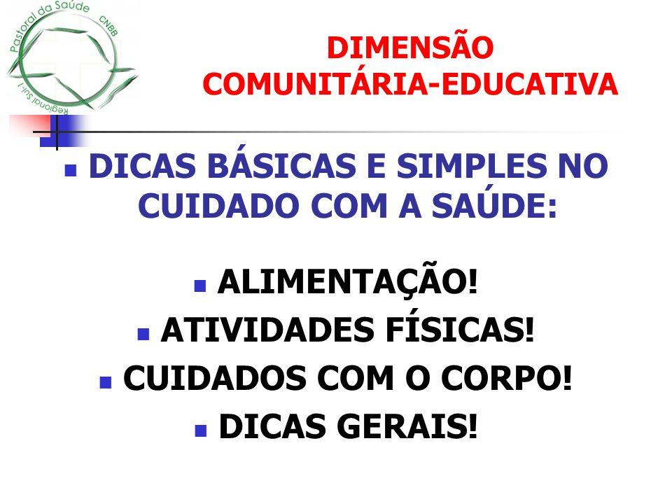DIMENSÃO COMUNITÁRIA-EDUCATIVA
