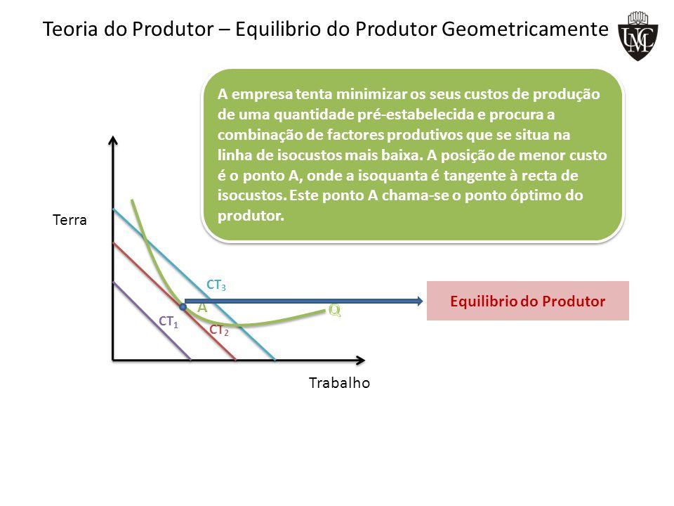 Teoria do Produtor – Equilibrio do Produtor Geometricamente
