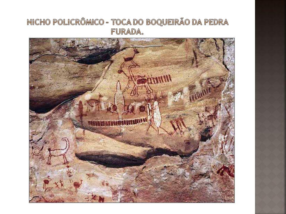 Nicho policrômico - Toca do Boqueirão da Pedra Furada.