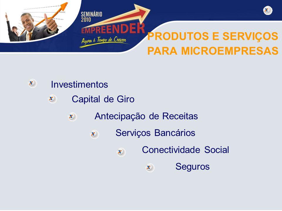PRODUTOS E SERVIÇOS PARA MICROEMPRESAS Investimentos Capital de Giro